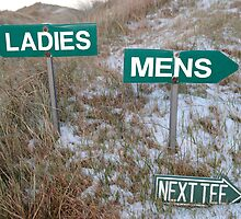 ladies sign above mens sign and next tee sign by morrbyte