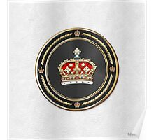 Crown of Scotland over White Leather  Poster