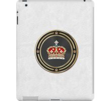 Crown of Scotland over White Leather  iPad Case/Skin