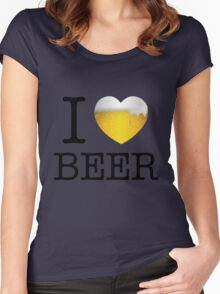 I Love Beer Women's Fitted Scoop T-Shirt