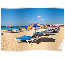 Corralejo beach in Fuerteventura island Poster