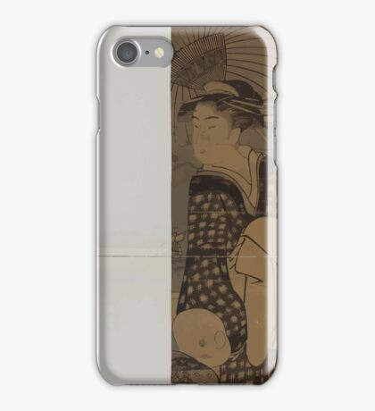 Hashi no ue no bijin to kodomo 00332 iPhone Case/Skin