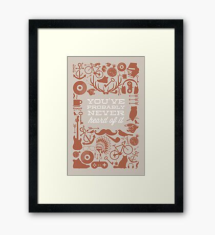 The Study of Hipsters Framed Print