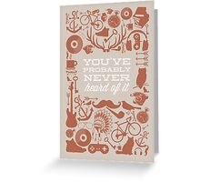 The Study of Hipsters Greeting Card