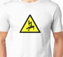 Danger of electric shock Symbol. Unisex T-Shirt