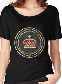 Crown of Scotland over Black Velvet Women's Relaxed Fit T-Shirt