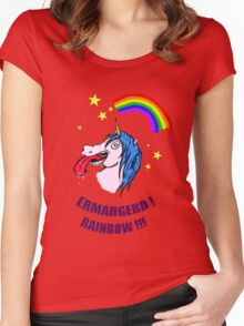 ERMAHGERD RAINBOW! Women's Fitted Scoop T-Shirt
