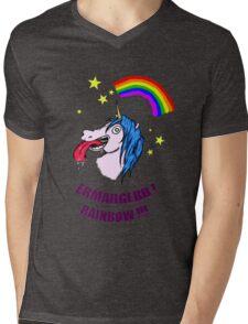 ERMAHGERD RAINBOW! Mens V-Neck T-Shirt