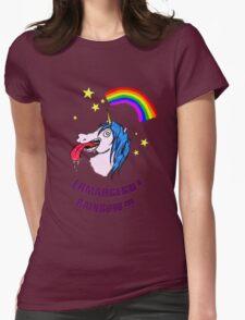 ERMAHGERD RAINBOW! Womens Fitted T-Shirt