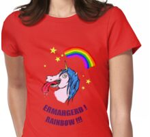 ERMAHGERD RAINBOW! Womens Fitted T-Shirt