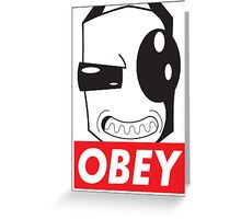 Obey Zim Greeting Card