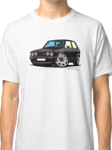 VW Golf GTi (Mk1) Black Classic T-Shirt