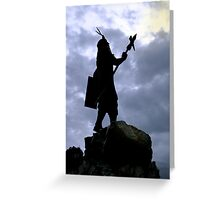 Huayna Capac Inca King Greeting Card