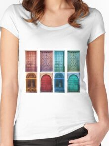 Vintage doors Women's Fitted Scoop T-Shirt