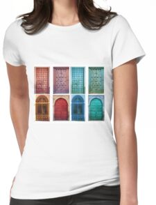Vintage doors Womens Fitted T-Shirt