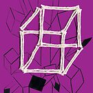 hypercube (purple) by WOOLLOVER