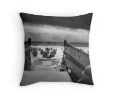Into the Jaws of Death Throw Pillow