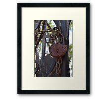 Turn the Key Framed Print