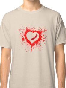 Emo Graffit Heart Valentines Classic T-Shirt