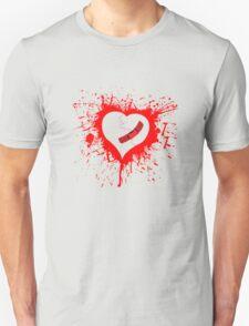 Emo Graffit Heart Valentines Unisex T-Shirt