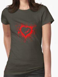 Emo Graffit Heart Valentines T-Shirt