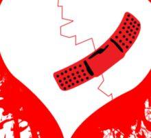 Emo Graffit Heart Valentines Sticker