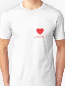 Heart Missing Guys Valentines Unisex T-Shirt