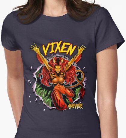 SheVibe Vixen Logo Womens Fitted T-Shirt