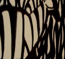 Zebra in Camouflage Sticker