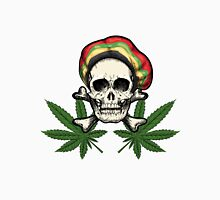 Skull in Rastaman cap and Marijuana leaves.  Unisex T-Shirt