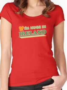 Im Huge In Ireland St Patricks Day Women's Fitted Scoop T-Shirt