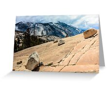 Olmsted Point Yosemite Greeting Card