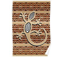 Africa Art Design With Gecko Poster