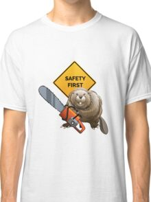 Beaver with a chainsaw Classic T-Shirt
