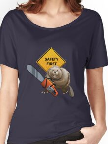 Beaver with a chainsaw Women's Relaxed Fit T-Shirt