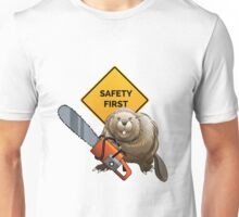 Beaver with a chainsaw Unisex T-Shirt
