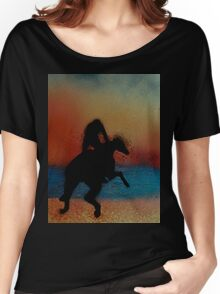Riding along the beach at sunset Women's Relaxed Fit T-Shirt