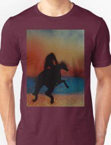 Riding along the beach at sunset T-Shirt