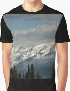 mountains with snow in winter Graphic T-Shirt