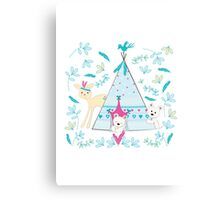 Winter camp Canvas Print