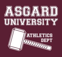 Asgard University - Athletics Department (Dark Shirt) by snailkeeper