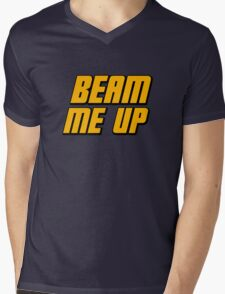 Beam Me Up Mens V-Neck T-Shirt