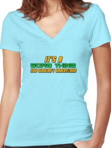 It's A Borg Thing, You Wouldn't Understand Women's Fitted V-Neck T-Shirt