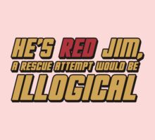 He's Read Jim A Rescue Attempt Would Be Illogical One Piece - Short Sleeve