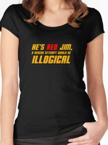 He's Read Jim A Rescue Attempt Would Be Illogical Women's Fitted Scoop T-Shirt