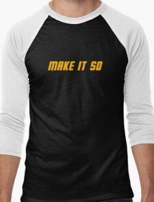 Make It So Men's Baseball ¾ T-Shirt