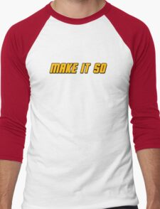 Make It So Men's Baseball ¾ T-Shirt