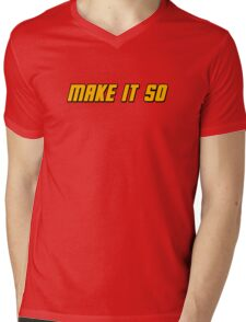 Make It So Mens V-Neck T-Shirt