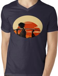 samurai Mens V-Neck T-Shirt