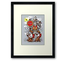 Hobbit Crossing, you shall not pass Framed Print
